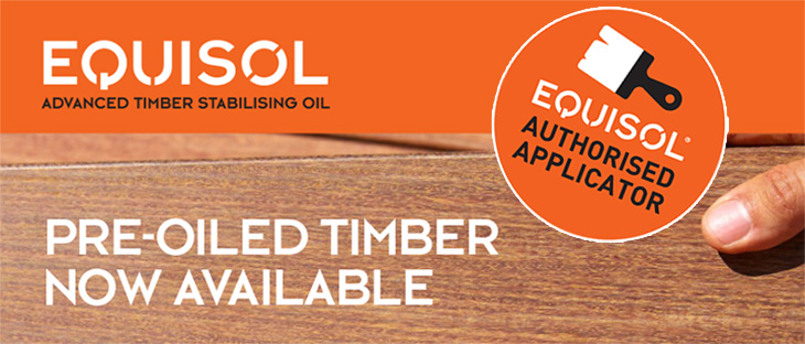 Equisol Pre-Oiled Timber from Gympie Sawmill